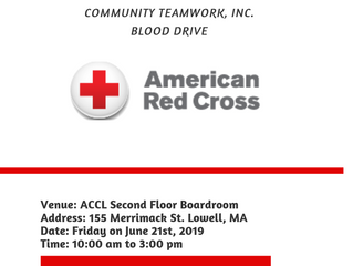 THE AFRICAN COMMUNITY CENTER OF LOWELL BLOOD DRIVE