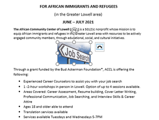 Free and In-Person Career Services Summer 2021