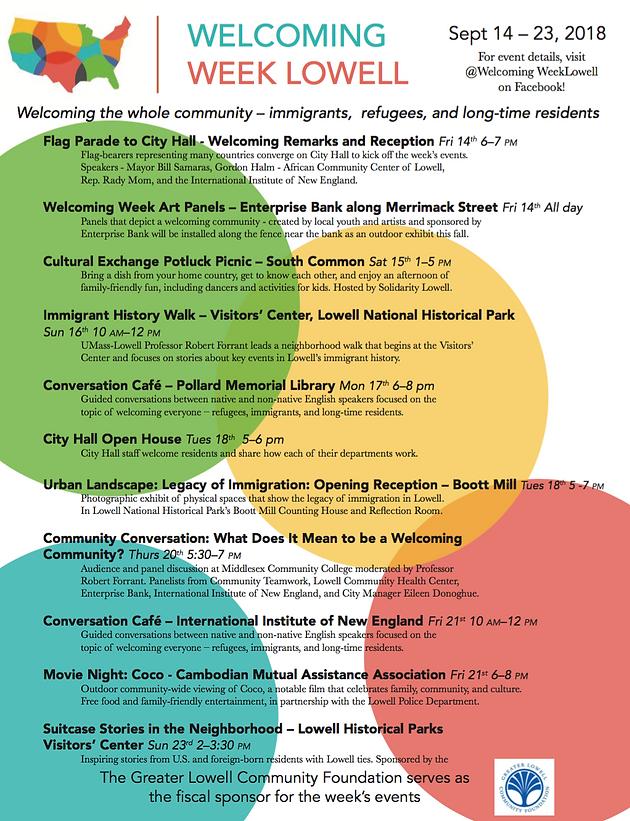Inaugural Welcoming Week Begins Sept 14