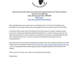 Congresswoman Lori Trahan Presents Telecommunity Meeting