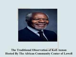 Final Tribute to Kofi Annan