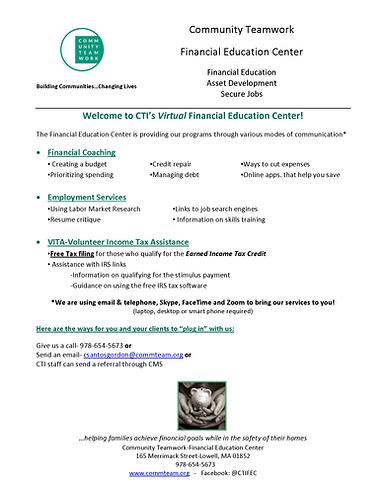 Virtual Financial Education Center Servi