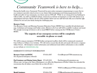 Community Teamwork Covid-19 Emergency Response