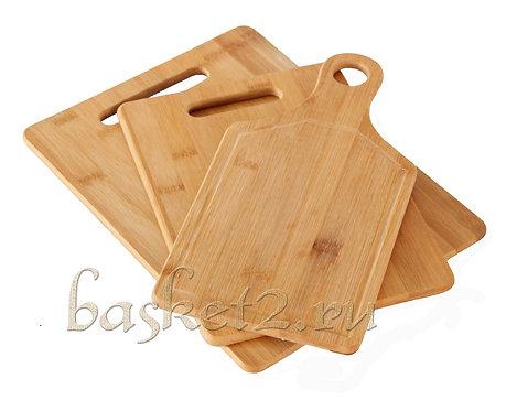Доска кухонная. Материал бамбук. комплект 3 шт.