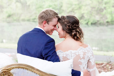 Lakeside Bride and Groom