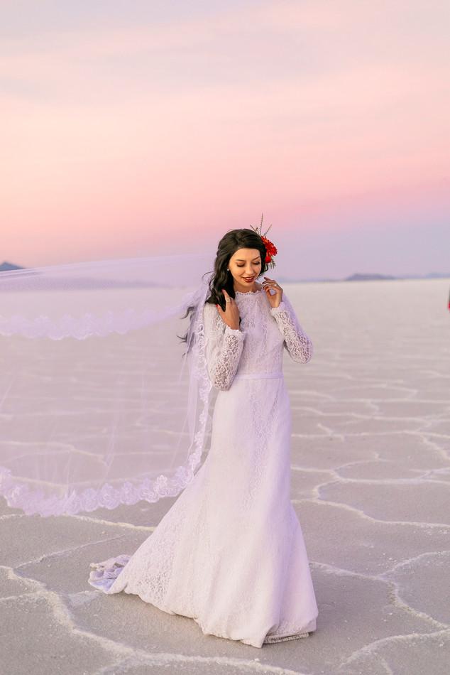 Bonneville Salt Flats Vintage Inspired Bride
