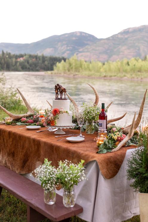 Rustic Lakeside Sweetheart Table