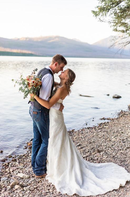Glacier Wedding Portraits