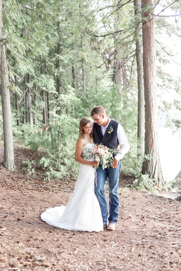 Wooded Bride and Groom Portraits