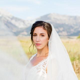 Montana Bride with Veil