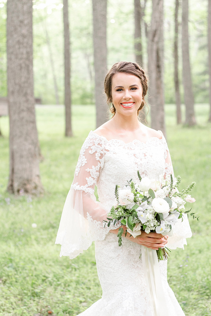 Bridal Gown with Bell Sleeves