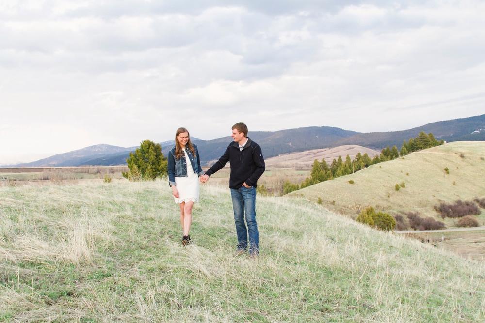 Montana Hillside Engagement Session