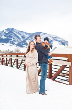 Rocky Mountain Winter Maternity Session
