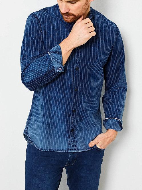 Camicia in denim a righe