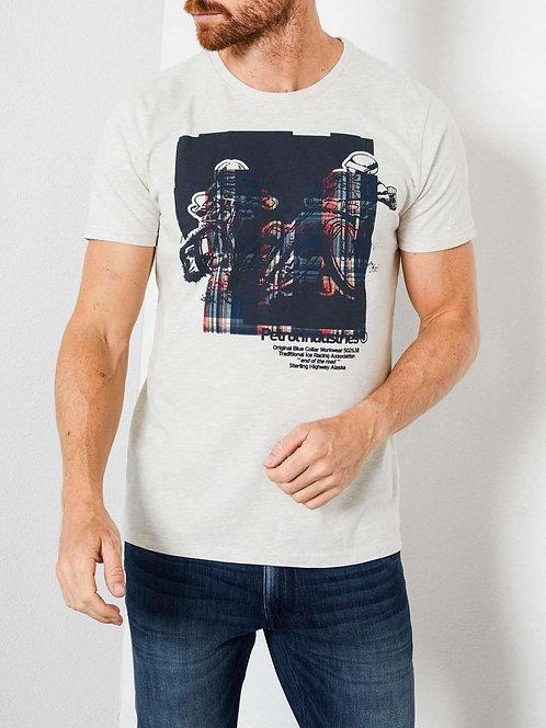 T-shirt con stampa motori