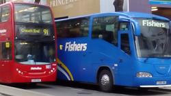 London bus alongside coach DSC_0027