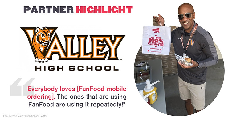 valley high school fanfood mobile ordering success