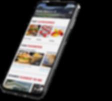 FanFood app menu screen