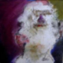 petit portrait sur toile-techniques mixtes