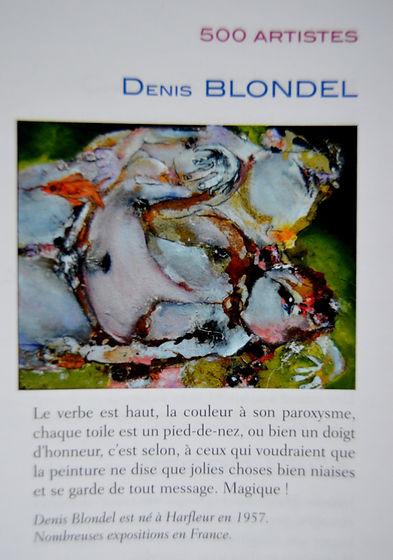500 artistes à suivre, parmi lesquels Denis Blondel