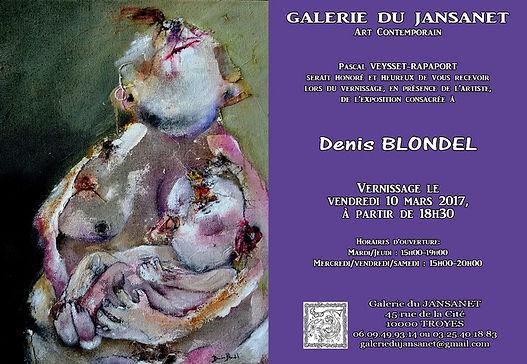 Invitation au vernissage expo Denis Blondel