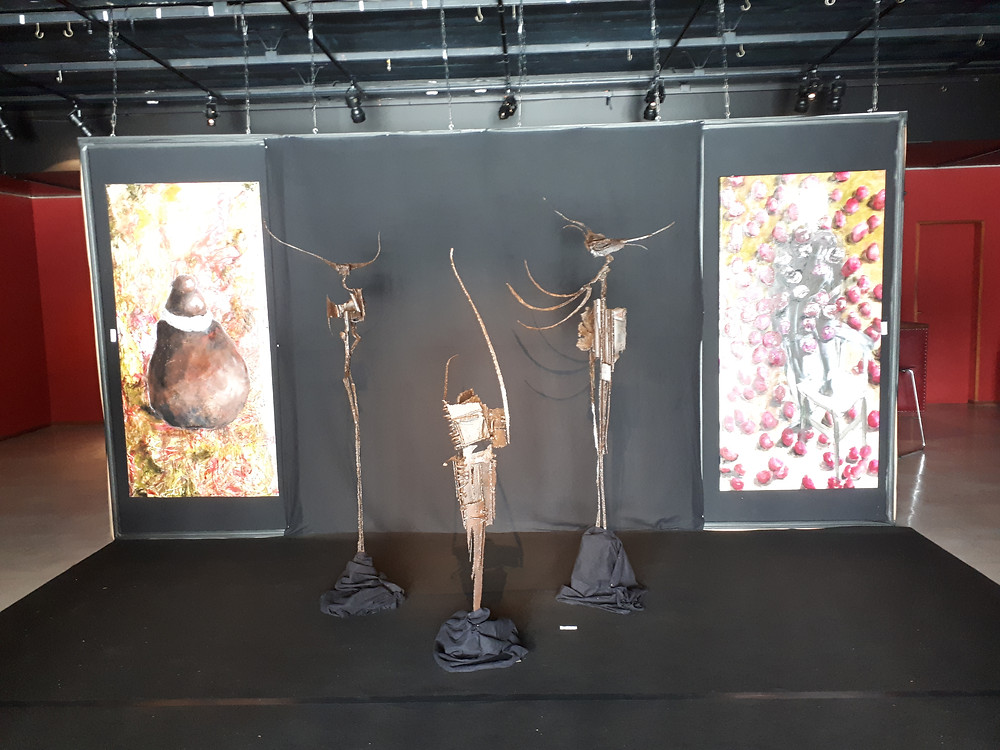 toiles de Yvan Le Soudier / sculptures de Patrice Delaune
