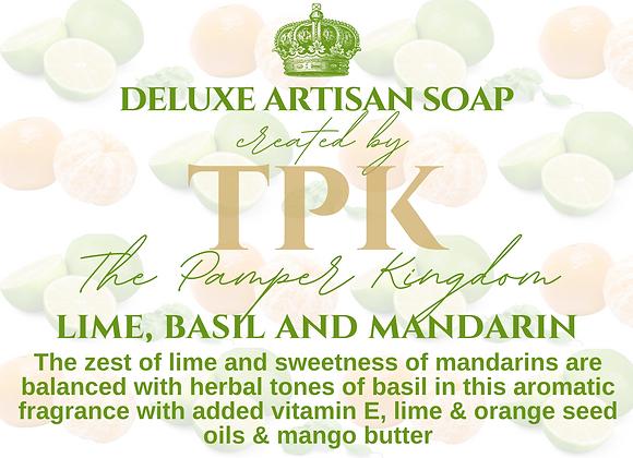 Lime Basil and Mandarin Deluxe Artisan Soap