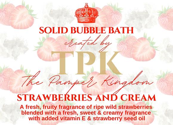 Strawberries and Cream Solid Bubble Bath