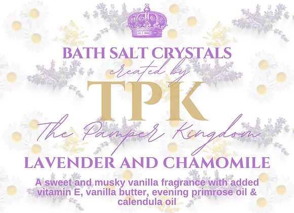 Lavender, Chamomile and Calendula Bath Salt Crystals