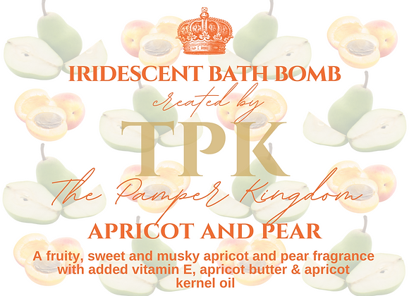 Apricot and Pear Iridescent Bath Bomb