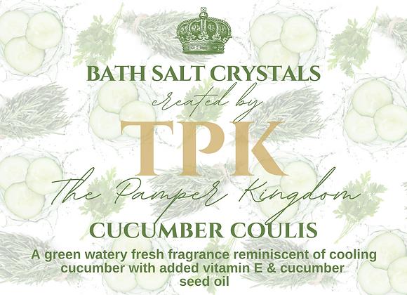 Cucumber Coulis Bath Salt Crystals