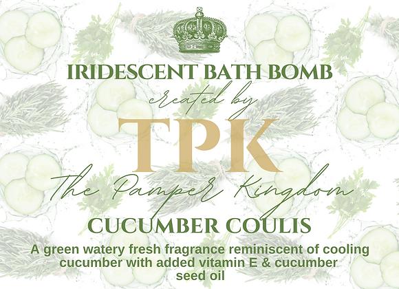 Cucumber Coulis Iridescent Bath Bomb