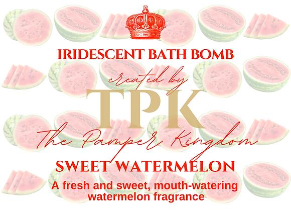 Sweet Watermelon Iridescent Bath Bomb