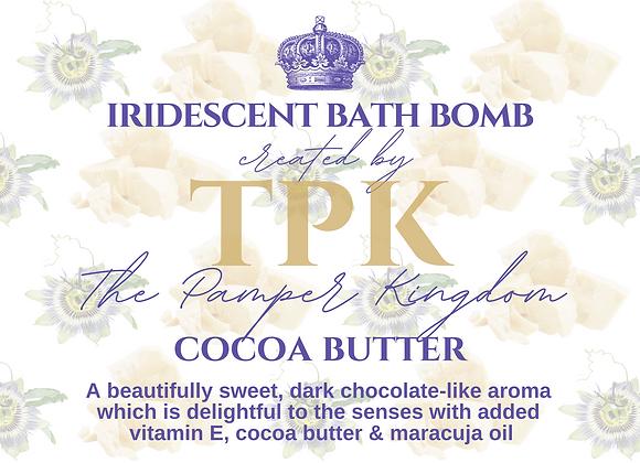 Cocoa Butter Iridescent Bath Bomb