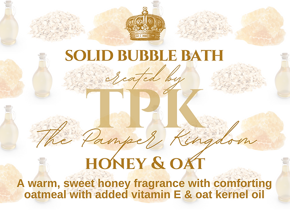 Honey and Oat Solid Bubble Bath