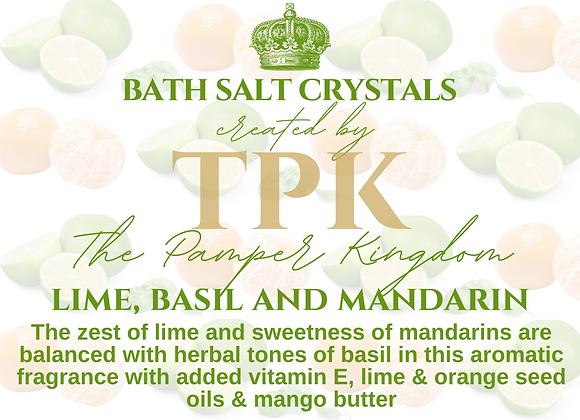 Lime Basil and Mandarin Bath Salt Crystals