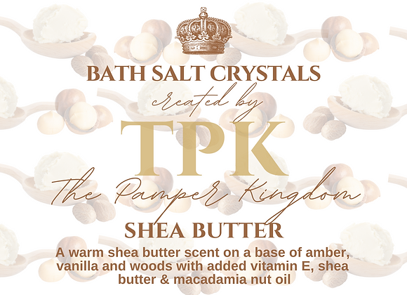 Shea Butter Bath Salt Crystals