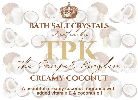 Creamy Coconut Bath Salt Crystals