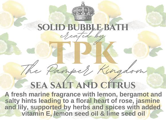 Sea Salt and Citrus Solid Bubble Bath