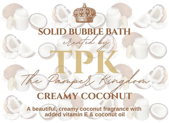 Creamy Coconut Solid Bubble Bath