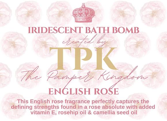 English Rose Iridescent Bath Bomb