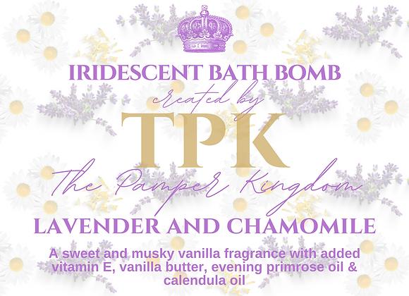 Lavender, Chamomile and Calendula Iridescent Bath Bomb