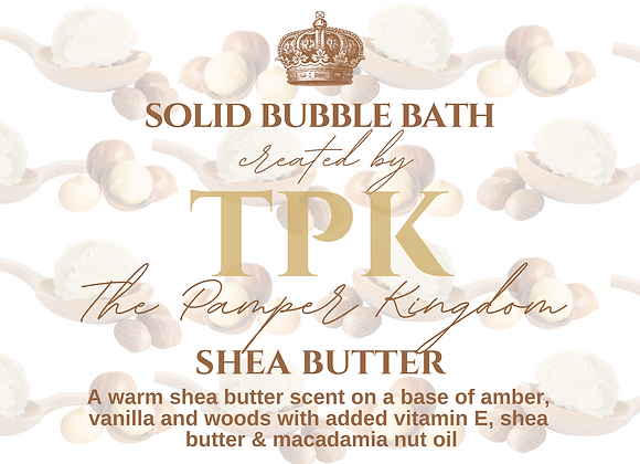 Shea Butter Solid Bubble Bath