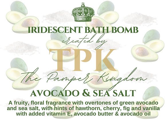 Avocado and Sea Salt Iridescent Bath Bomb