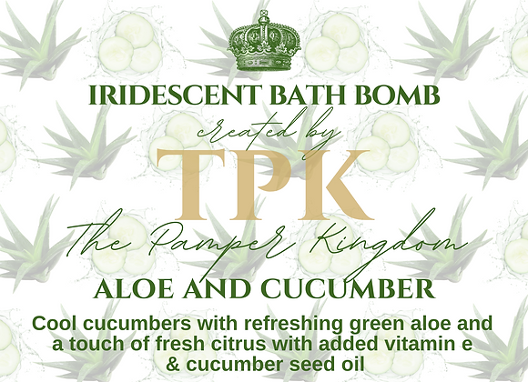 Aloe and Cucumber Iridescent Bath Bomb