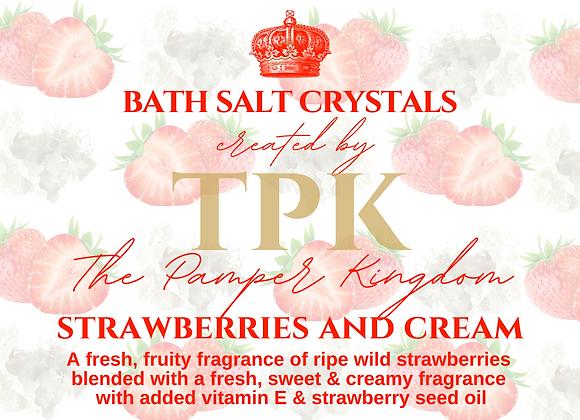 Strawberries and Cream Bath Salt Crystals