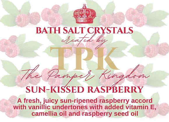 Sun-kissed Raspberry Bath Salt Crystals