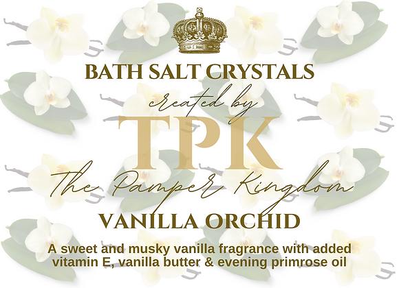 Vanilla Orchid Bath Salt Crystals