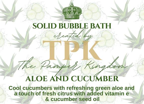 Aloe and Cucumber Solid Bubble Bath