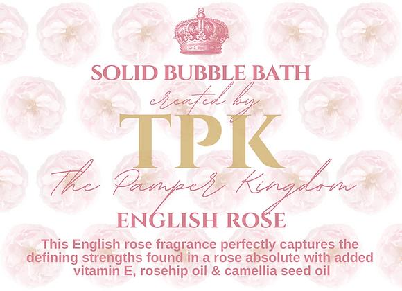 English Rose Solid Bubble Bath